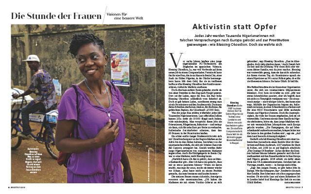 Die Stunde der Frauen |Aktivistin statt opfer| Blessing okoedion 1